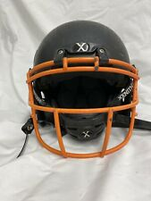 Xenith Youth X2E Football Helmet -Medium - Matte Black With Orange Facemask