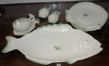 More details for retro shorter & son fish serving 4 dinner plate salt & pepper gravy boat jug set