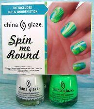 CHINA GLAZE SPIN ME ROUND 4-pc Nail Polish Set~Snow Lifeguard Sun Turquoise *NIB