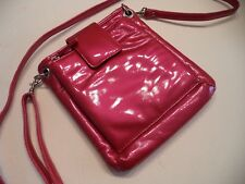 Rolf's Megan Crossbody Patent Leather Bag,Hot Pink