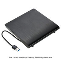 Slim USB 3.0 SATA 9.5mm External Optical Disk Drive Case ODD Box for Laptop Y4Z0