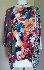 Fashion fuse casual Boho - Chic combo print Tunic/Top  dolman sleeve, Medium