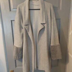 Zara Light Grey Coatigan Size S, Excellent condition