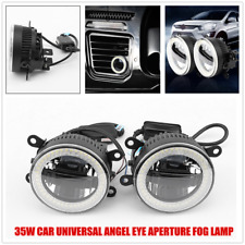 2PC Car Universal LED Angel Eye Fog Lamp Daytime Light Front Bumper Lighting 12V