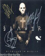 Slayer  8 x 10 Autograph Reprint  Raining Blood  Angel of Death  South of Heaven