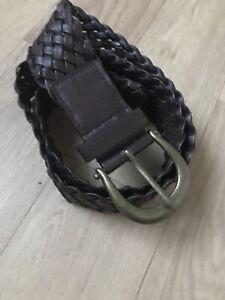 B1217 UK Stock Skinny Plaited Belt