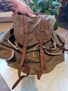 Vintage Military Bag Rucksack Duffle 1948 satchel army