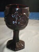 VINTAGE AVON 1976 PRESIDENTS CELEBRATION RUBY RED CAPE COD WINE GLASS GOBLET USA