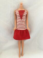 Vintage Canada FASHION PLAY Barbie Red And White Striped Dress 7193