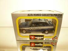 BBURAGO 0176 ALFA ROMEO GIULIETTA POLIZIA - BLUE 1:24 - VERY GOOD IN BOX