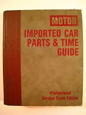 1985 Edition MOTOR Imported Car Parts & Time Guide 1978-85 MG,Triumph,etc