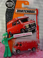 2017 MATCHBOX #87 '95 CUSTOM CHEVY VAN☆Red;spare tire variation☆Heroic Rescue☆