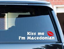 Kiss me estoy (cualquier nacionalidad) Pegatina De Coche Parachoques Etiqueta de registro