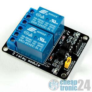 2-Kanal 5V Relais Modul Relay Optokoppler Arduino Raspberry Pi