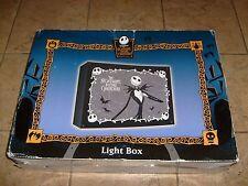 RARE Jack Skellington LIGHT UP DISPLAY WALL SHELF BOX Nightmare Before X Mas NEW