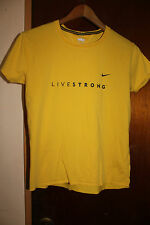 Nike Fit Dry Livestrong Women's Yellow Shirt Size Medium 8-10