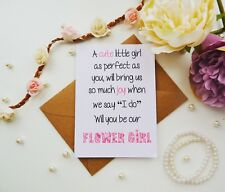 personalised will you be my flower girl pageboy greeting card wedding supplies