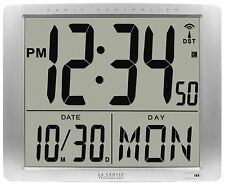 "515-1316 La Crosse Technology Jumbo 7"" Time Display Atomic Digital Wall Clock"