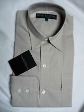 """Gieves and Hawkes Brand New Solid Tan Military Shirt 15 1/2"""" RRP £95"""
