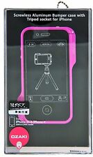 Ozaki O!Photo Bumper Screwless Aluminum Frame Case for iPhone 4 / 4S - Pink