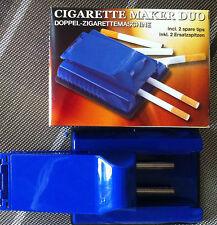 Doppel-Zigarettenstopfmaschine für Tabak in Blau