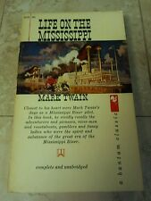 LIFE ON THE MISSISSIPPI MARK TWAIN complete and unabridged 1960 paperback classi