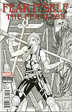 Fear Itself  The Fearless #1   Sketch  2nd Printing Variant (2) Cover