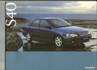 VOLVO S 40 (INC. SE AND CD) SALES BROCHURE MAY 1996