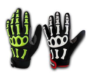 Cycling Bicycle Full Skull Finger Skeleton Antiskid GEL Silicone Gloves SPAKCT
