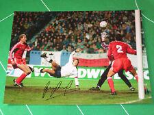 England Gary Lineker Signed Giant Scoring a Goal v Poland Photograph