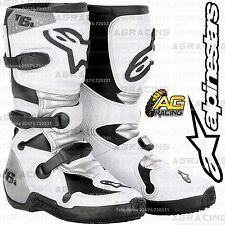 Alpinestars 2015 Tech 6S Youth White Boots Size US 5 UK 4 EU 38 MotoX Offroad