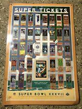 Vintage 2003 Super Bowl XXXVII Ticket Poster Laminated