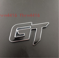 GT Badge Black & Silver Chrome for Ford Emblem Ranger Edge Ecosport Mustang KIA