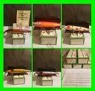 RARE Vintage Set Of 5 Creek Chub Limited Edition 700 Pikie Series With Boxes NIB