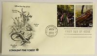 10 USPS PCS Longleaf Pine Forest 2002 34c Stamp FDC 3611 First Day Issue NEW
