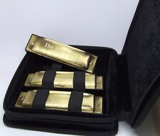 Bluesman Vintage Harmonica Boxed Set de 3-Touches de C, D, G-Pack starter
