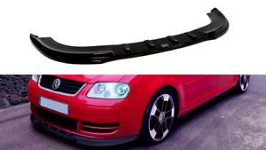 MAXTON FRONT SPLITTER FOR VW TOURAN (2003 - 2006) (GLOSS BLACK)