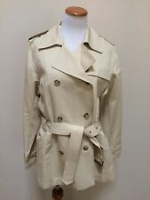 NWT Eddie Bauer Belted Trench Coat Jacket Women's Size Large L