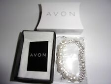 Gallo Bracelet silver plated with acrylic beads by Avon NEW boxed