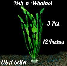 3Pc. Artifical Grass Aquarium Fish Tank Water Plants Decoration Betta Cichlid