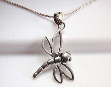 Small Dragonfly Necklace 925 Sterling Silver Corona Sun Jewelry