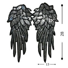 Newest Wings Fabric Patches Stickers Paillette Clothes Decor DIY Accessories