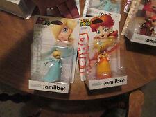 DAISY & ROSALINA Amiibo Nintendo WII U 3DS SUPER MARIO LOT 2 FIGURES US