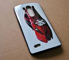 CUSTODIA COVER per LG G3 D855 SILICONE BACK CASE CAR RED