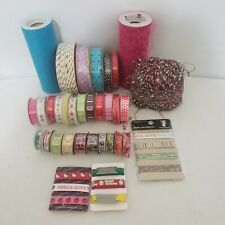 Mixed Lot of 33 Ribbons & Other Like Items Scrapbooking - New/Opened