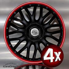 4x Radkappen 14 Zoll Orden Red Black Radzierblenden