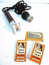 Antique 1929 Vibro-Shave Electric Razor In Original Box Includes 3 Packs Blades