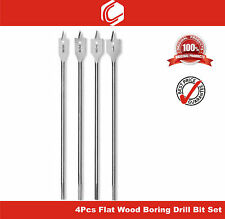 "Extra Long 12"" (300mm)length - 4pcs Flat Wood Boring Drill Bit Set / Spade bits"