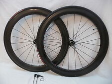 Carbonal 50mm deep x 25mm wide carbon tubulars with Novatec hubs - 1260g only