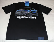 Ford Ranger Raptor Mens Black Printed Short Sleeve T Shirt Size XL New